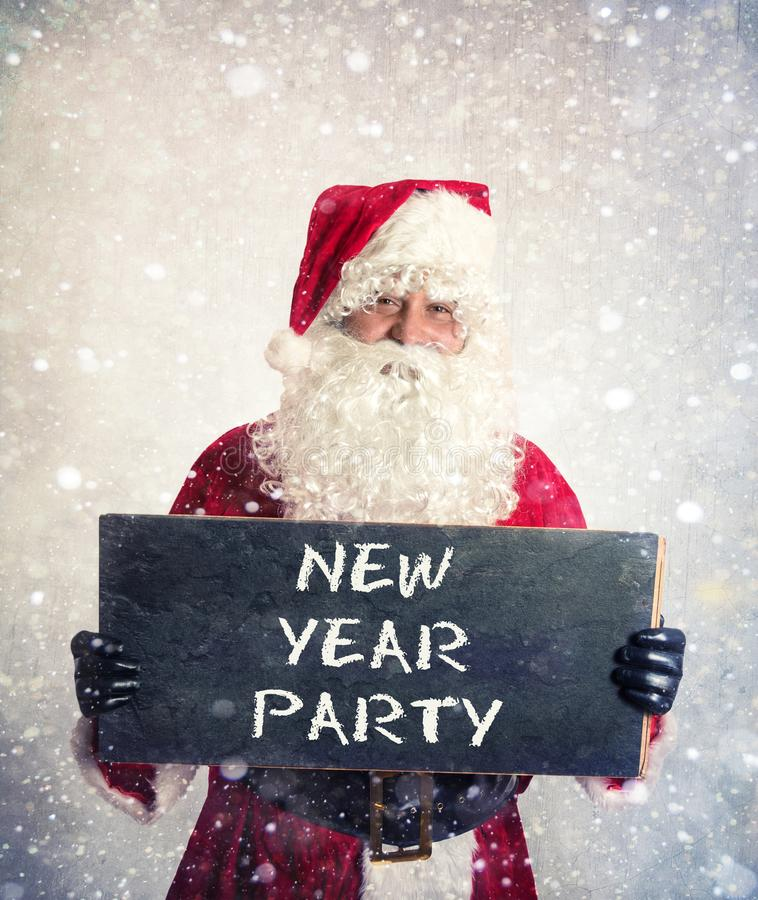 Santa Claus com quadro fotos de stock