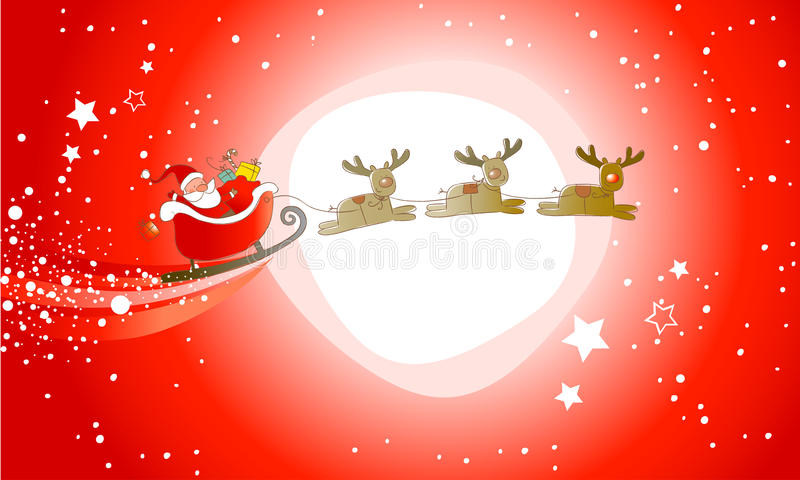 Santa Claus is comming! royalty free illustration