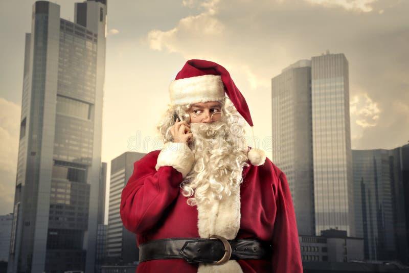 Santa Claus como um homem de negócios fotografia de stock royalty free