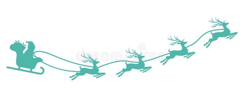Santa Claus con el trineo y los renos libre illustration