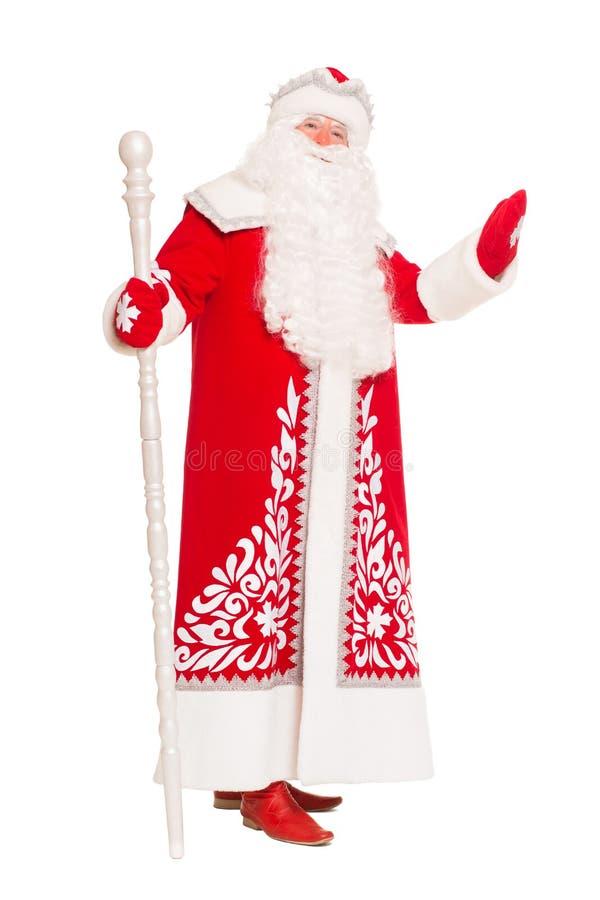 Santa Claus con un personale immagini stock