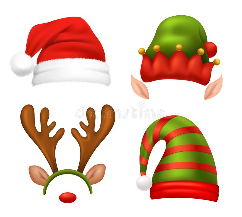 Santa Claus Concept Icons Set. With Christmas symbols realistic isolated vector illustration vector illustration