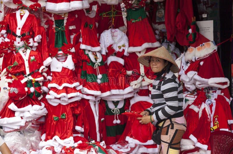 Santa Claus cosrumes fotografering för bildbyråer