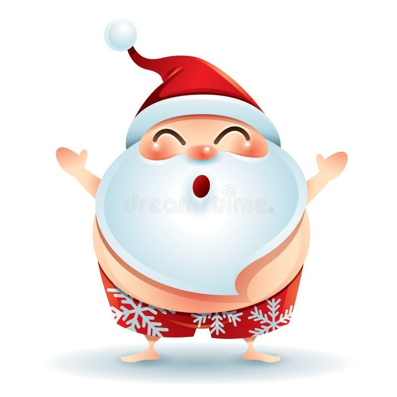 Santa claus in costume da bagno illustrazione vettoriale - Costume di bagno ...