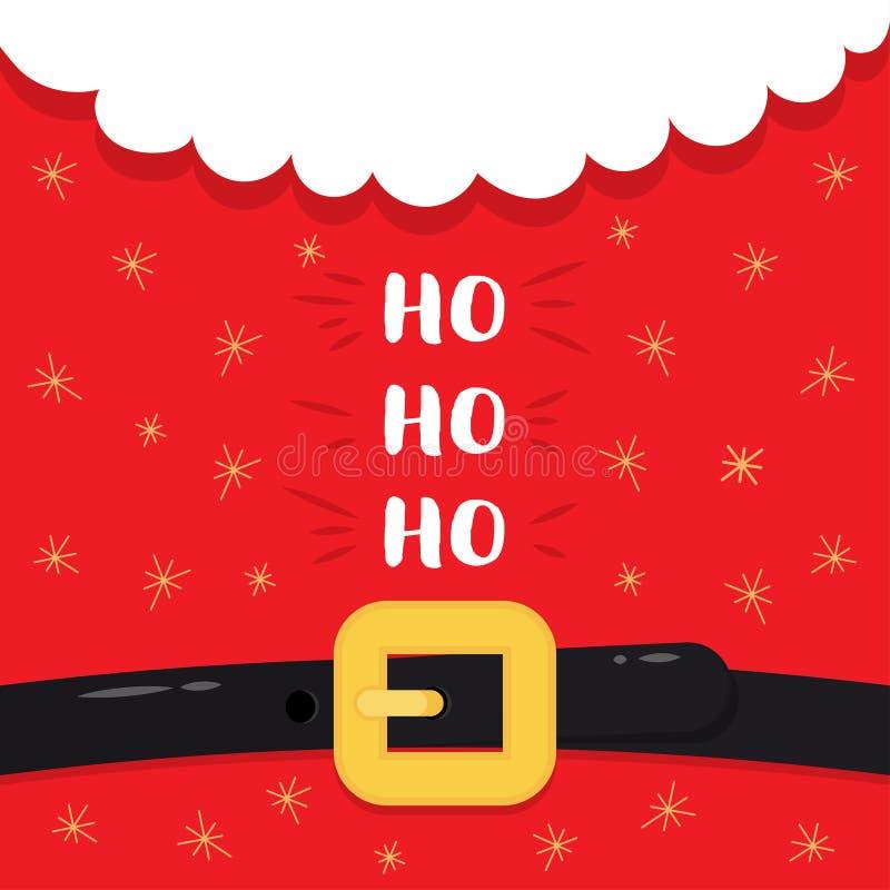 Santa Claus Costume Ho ho ho lizenzfreie abbildung