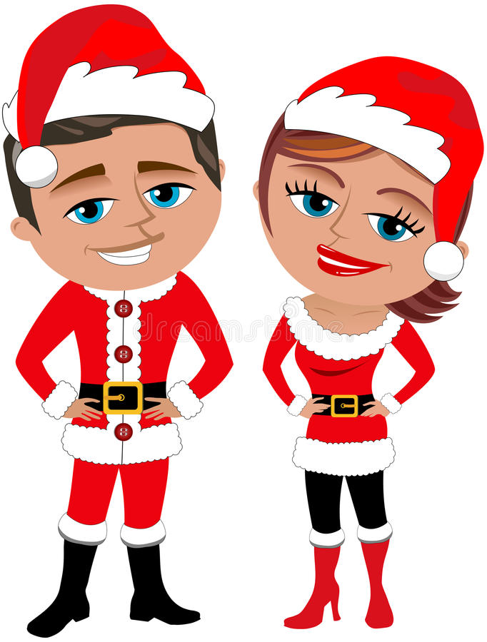 Download Santa Claus Couple Royalty Free Stock Photos - Image: 34426288