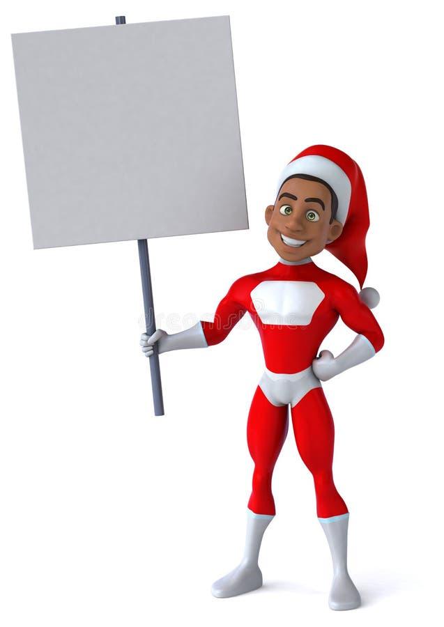 Santa Claus czarnego ilustracja wektor