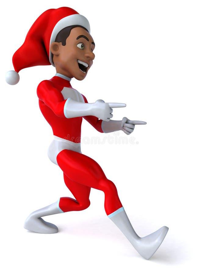 Santa Claus czarnego ilustracji