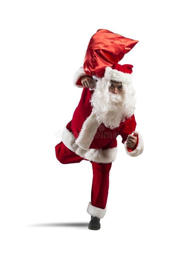 Santa Claus de corrida foto de stock royalty free