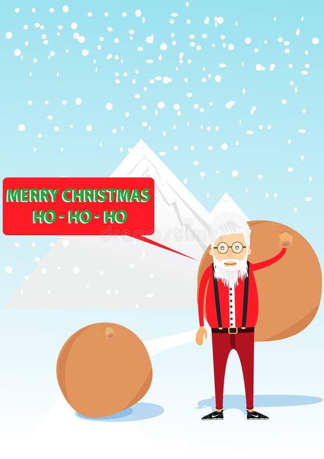 Santa Claus in de stijl van hipster stock foto's