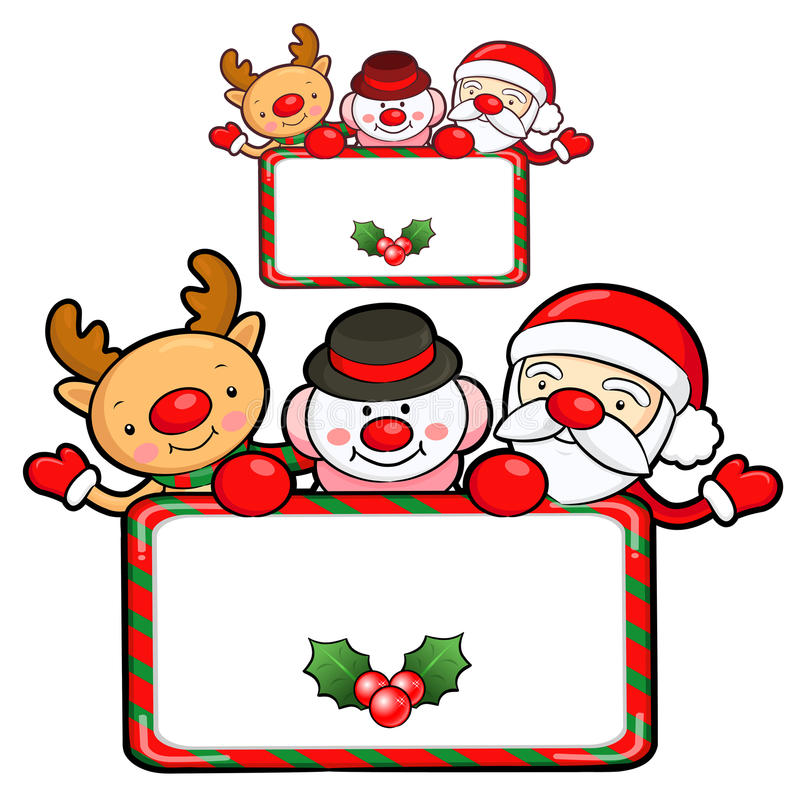 Download Santa Claus And Deer Mascot The Event Activity. Christmas Charac Stock Illustration - Image: 28271068