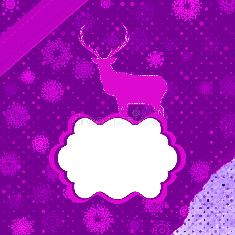 Download Santa Claus Deer Vintage Christmas Card. EPS 8 Stock Vector - Image: 28041506