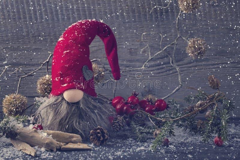 Santa Claus-Dekoration stockfotos