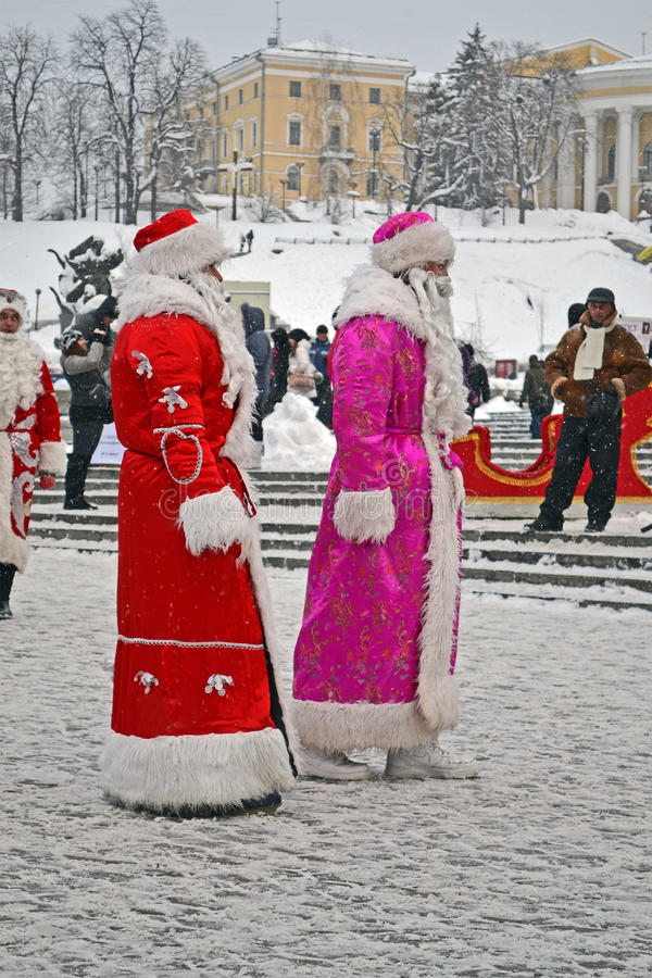 Download Santa Claus (Did Moroz) Greets People, Christmas, Editorial Photo - Image: 28387596