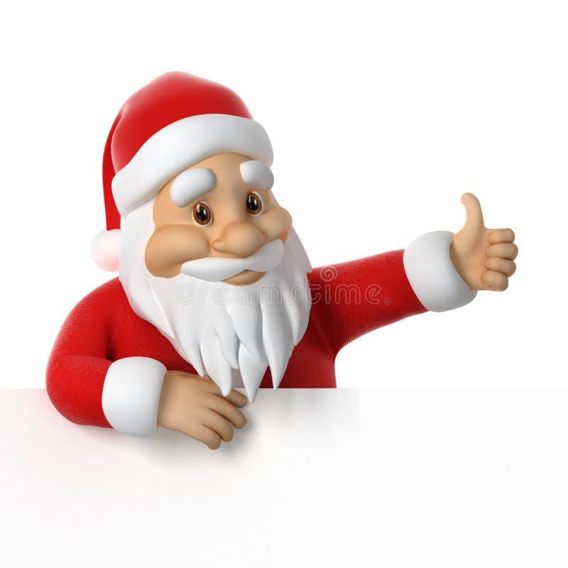 Santa Claus, die Daumen aufgibt stock abbildung