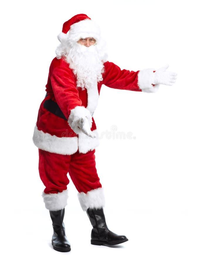 Santa Claus die op wit wordt geïsoleerd. royalty-vrije stock foto's