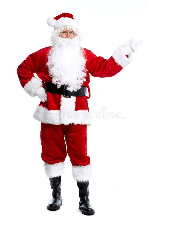 Santa Claus die op wit wordt geïsoleerd. stock fotografie