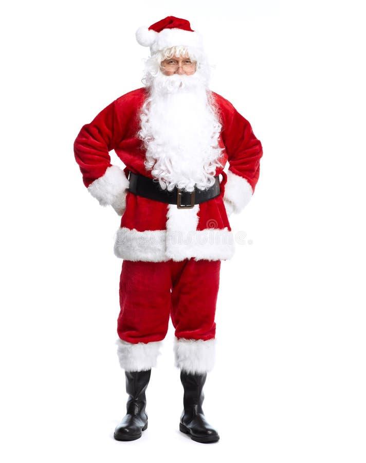 Santa Claus die op wit wordt geïsoleerd. stock afbeelding