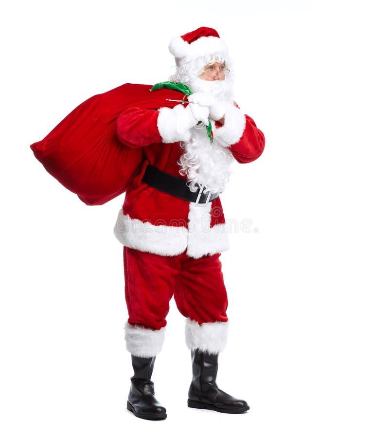 Santa Claus die op wit wordt geïsoleerd. stock foto