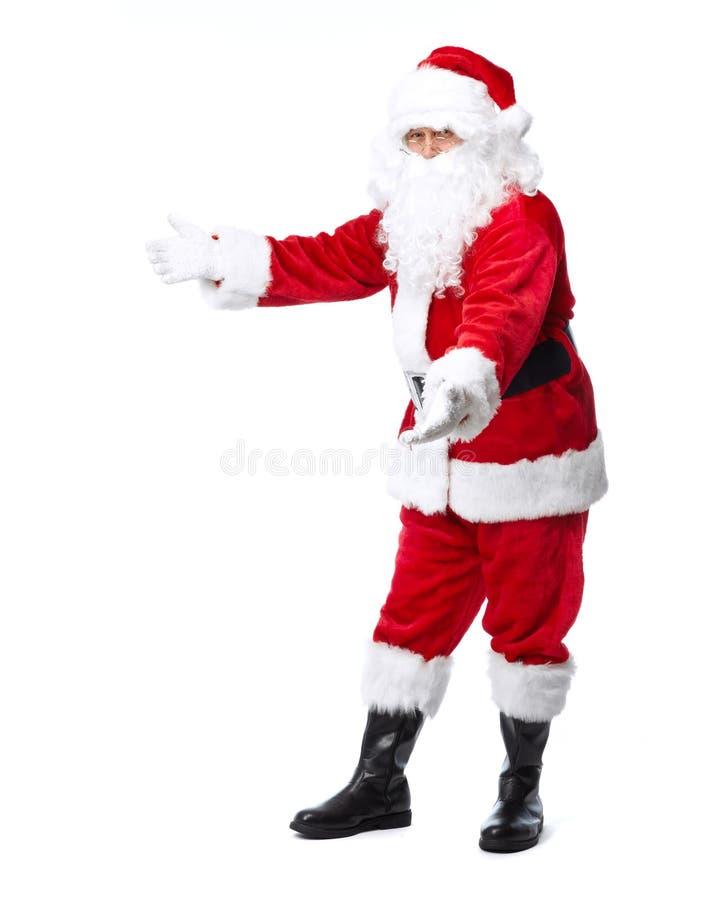 Santa Claus die op wit wordt geïsoleerd. royalty-vrije stock afbeelding