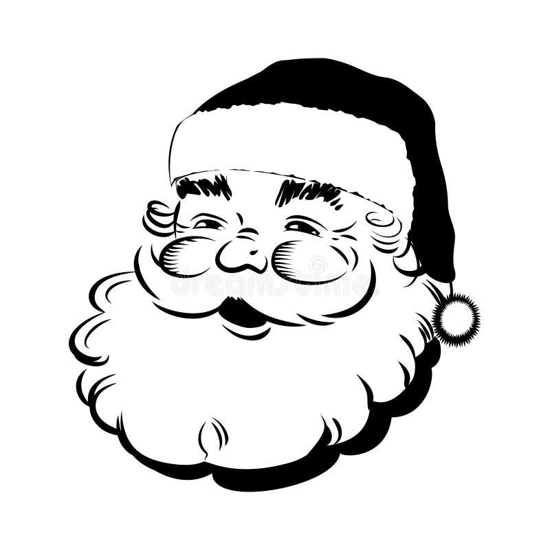 Santa Claus die - Retro Klemart. glimlachen royalty-vrije illustratie