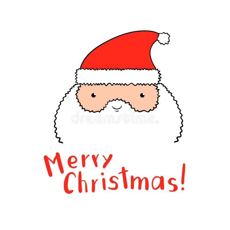Santa Claus divertida con las letras de la Navidad en vector stock de ilustración