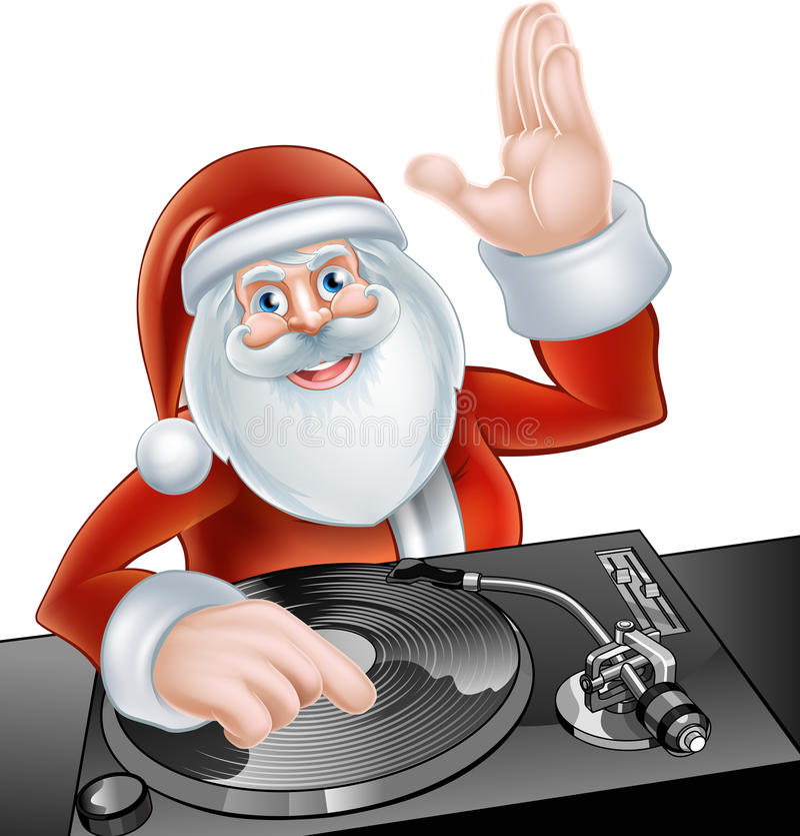 santa Claus DJ ελεύθερη απεικόνιση δικαιώματος