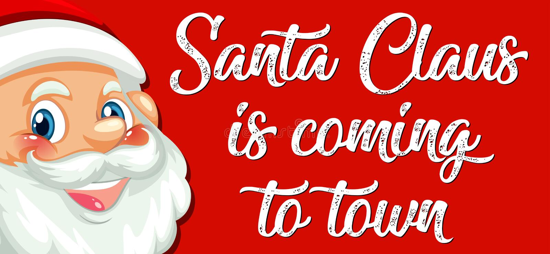 Santa claus do miasta ilustracji