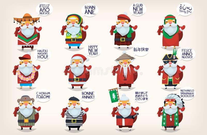 Santa claus do miasta royalty ilustracja