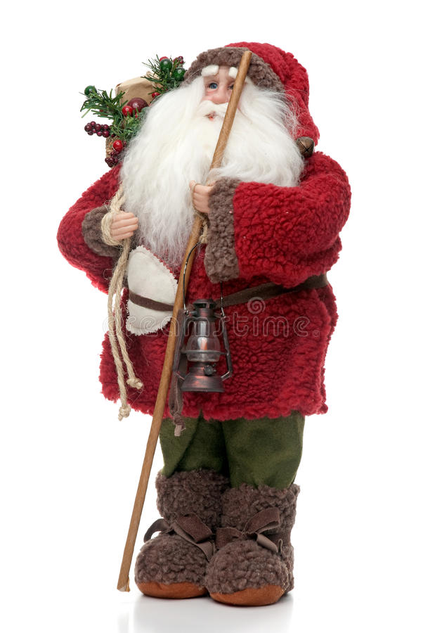 Santa Claus doll. Isolated on white background royalty free stock photography