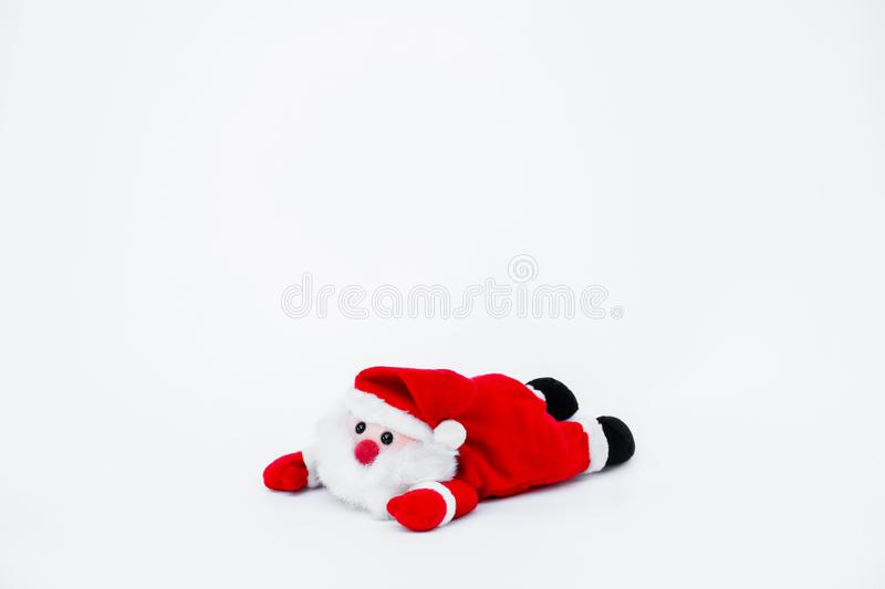 Santa claus doll on isolated on white background,Christmas decoration. Santa claus doll on isolated on white background royalty free stock images