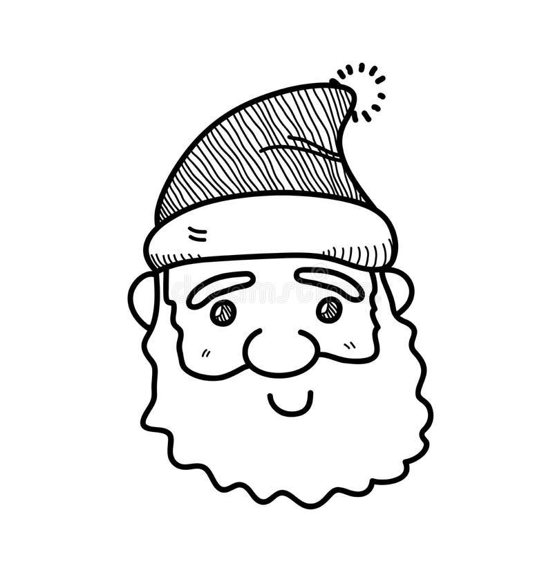 Line Drawing Santa Face : Santa claus doodle stock vector image of line design