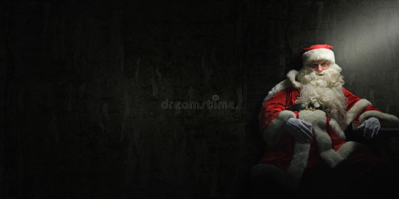 Santa Claus drickas eller har en sammanbrott arkivbilder