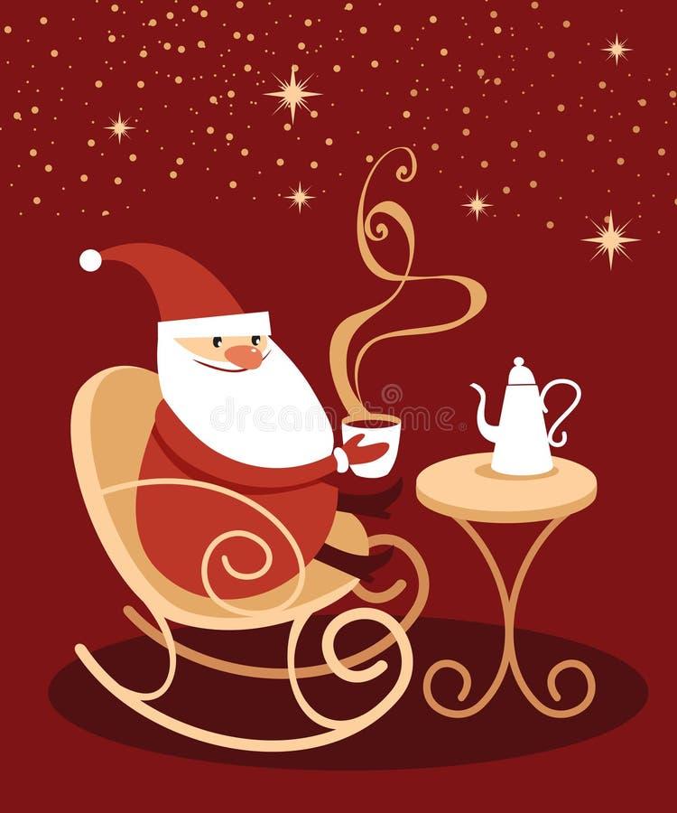 Free Santa Claus Drinking Hot Chocolate Royalty Free Stock Image - 80761296