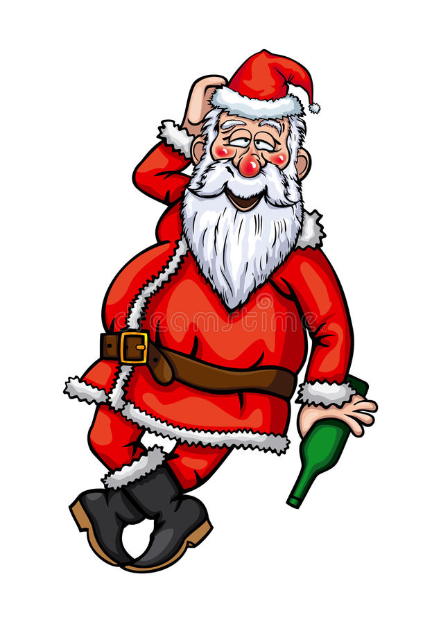 Santa Claus Drunk ilustración del vector