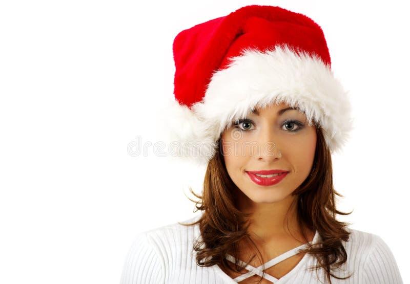 Santa claus dziewczyna zdjęcie stock