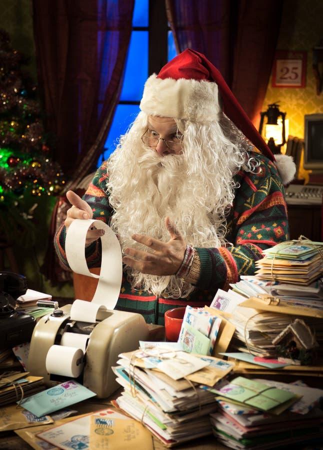 Santa Claus e difficoltà di imposta immagine stock libera da diritti