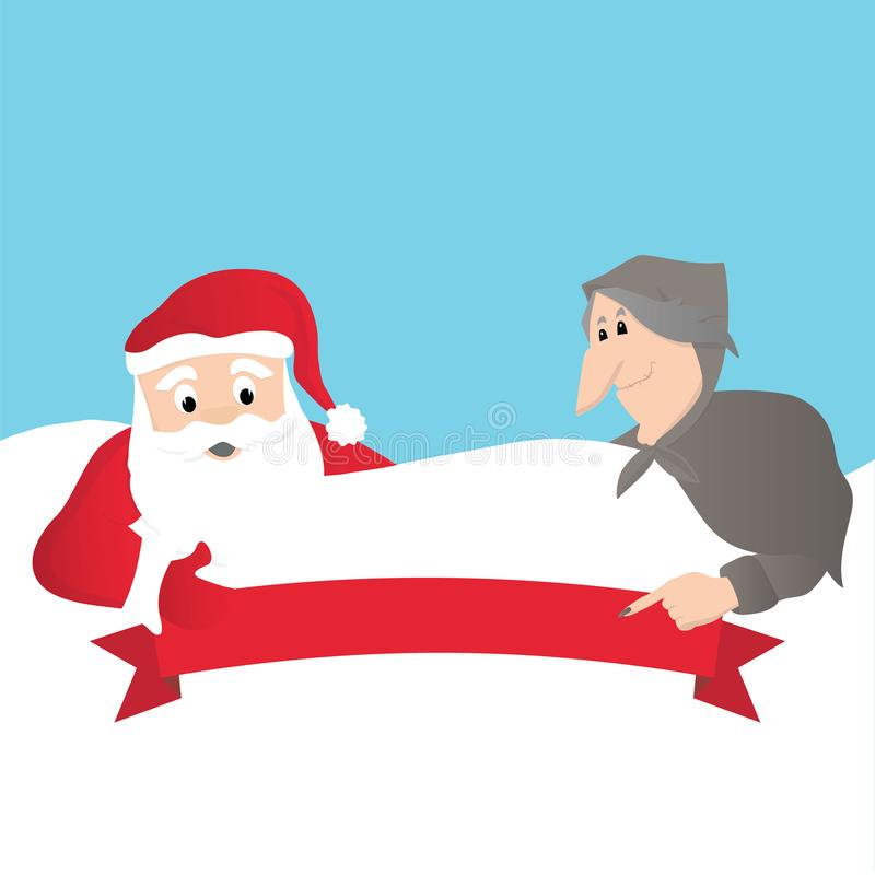 Santa Claus e italiano Befana libre illustration