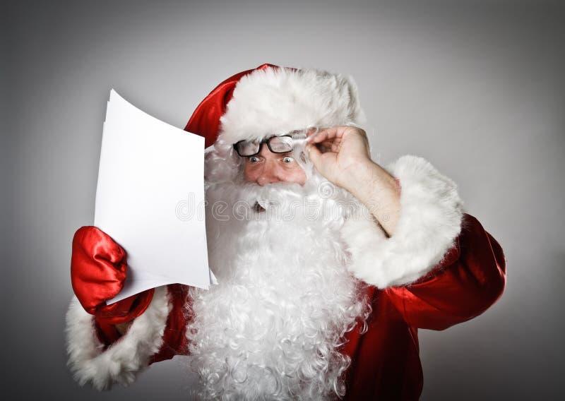 Santa Claus e letras imagens de stock