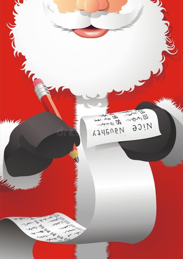 Download Santa Claus edit the list stock vector. Illustration of list - 6912787