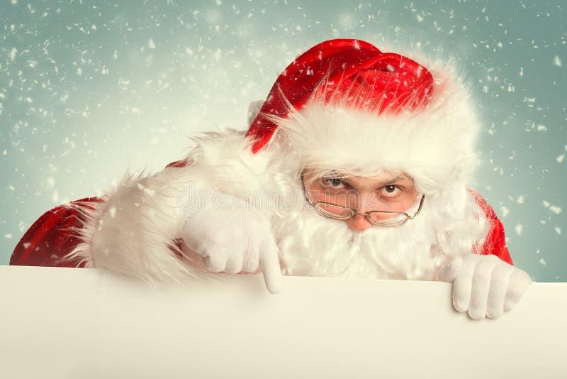 Santa Claus in een sneeuw