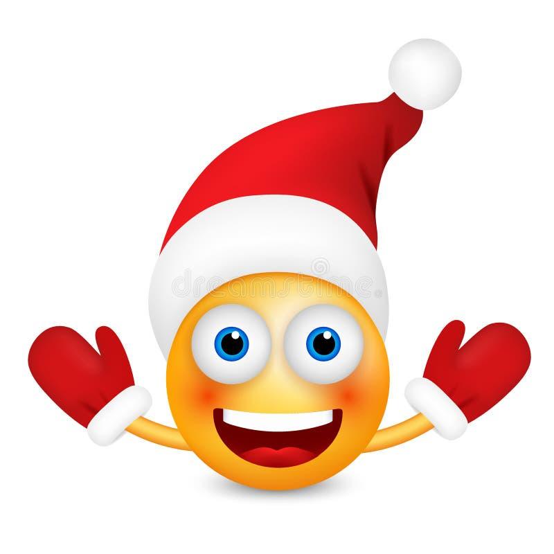 santa claus-emoticon, smiley, emoji - vector illustration vektor abbildung  - illustration von nett, feiertag: 104907090  dreamstime.com