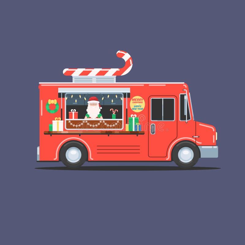 Santa Claus en el camión de la Navidad libre illustration
