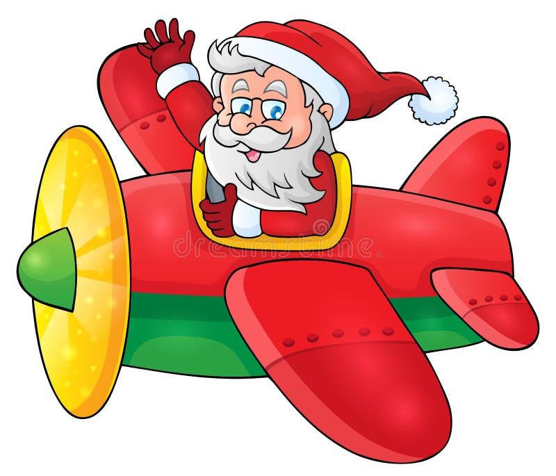 Santa Claus en la imagen plana 1 del tema libre illustration