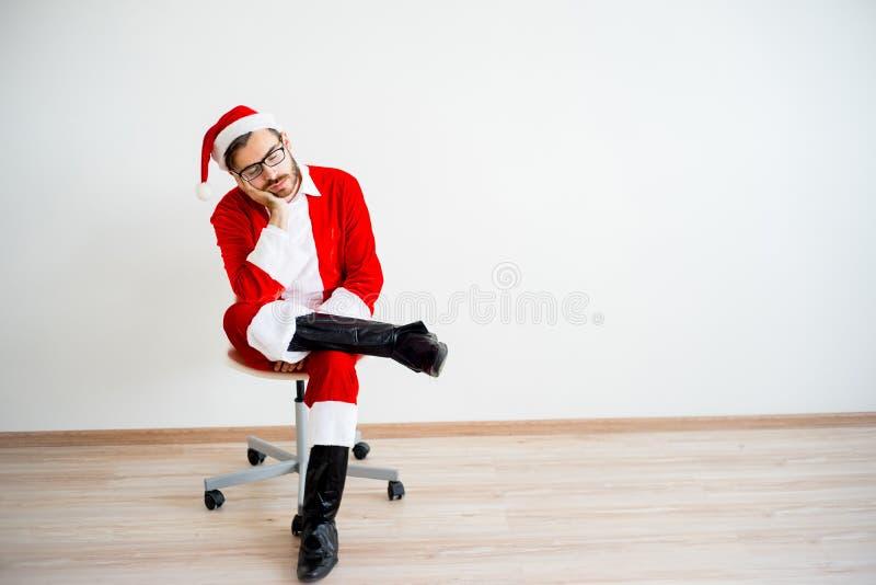 Santa Claus ennuyée photo stock
