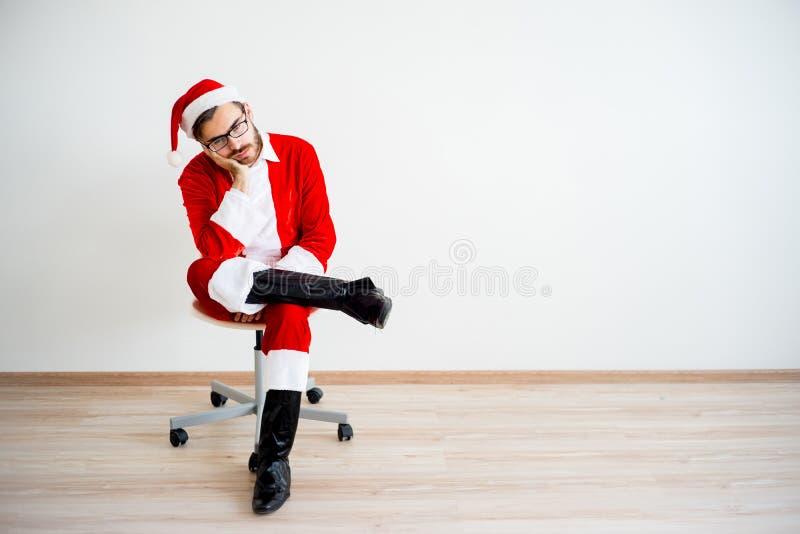 Santa Claus ennuyée images libres de droits
