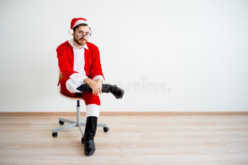 Santa Claus ennuyée photos libres de droits