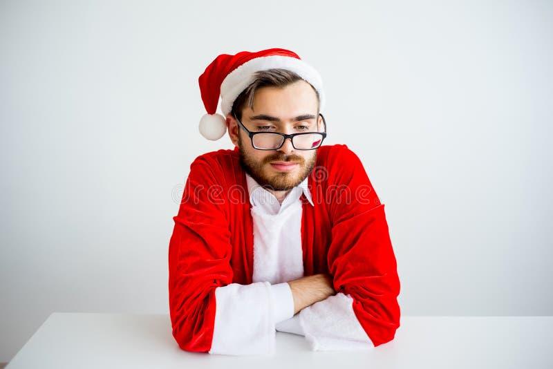Santa Claus ennuyée photographie stock