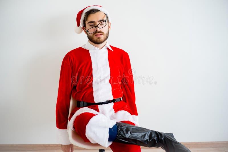 Santa Claus ennuyée image libre de droits