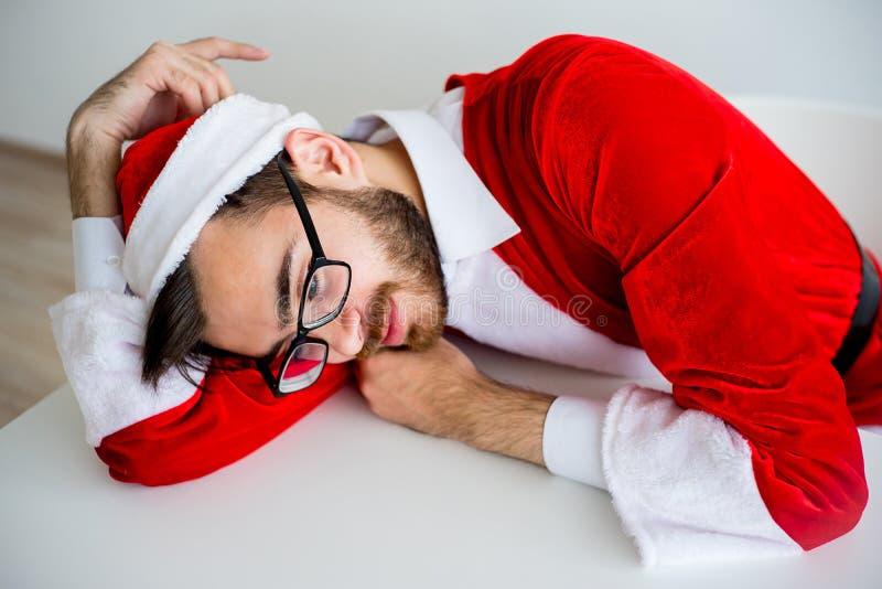 Santa Claus ennuyée photo libre de droits